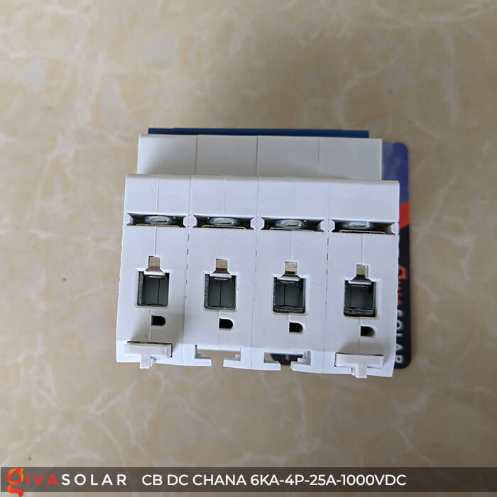 MCB DC CHANA 4P-6KA-25A-1000VDC EKM1-63DC 10