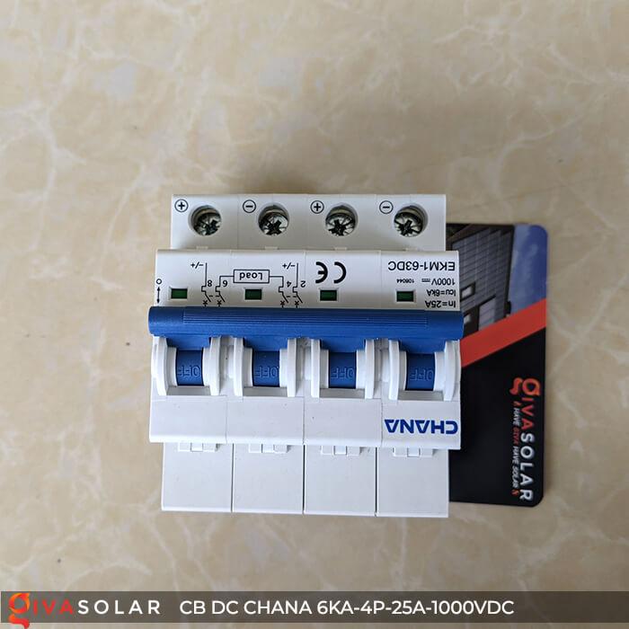 MCB DC CHANA 4P-6KA-25A-1000VDC EKM1-63DC 3