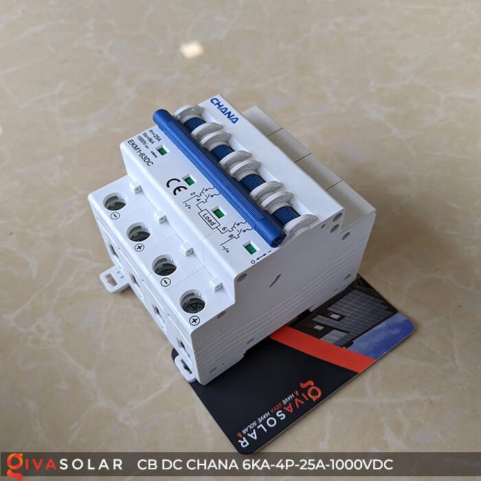 MCB DC CHANA 4P-6KA-25A-1000VDC EKM1-63DC 6