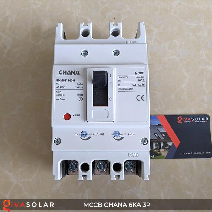 MCCB CHANA 3P EKM8T-160H 1