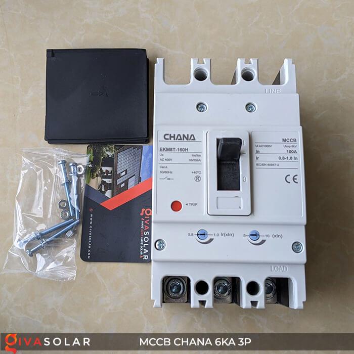 MCCB CHANA 3P EKM8T-160H 2