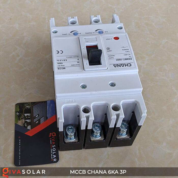 MCCB CHANA 3P EKM8T-160H 3