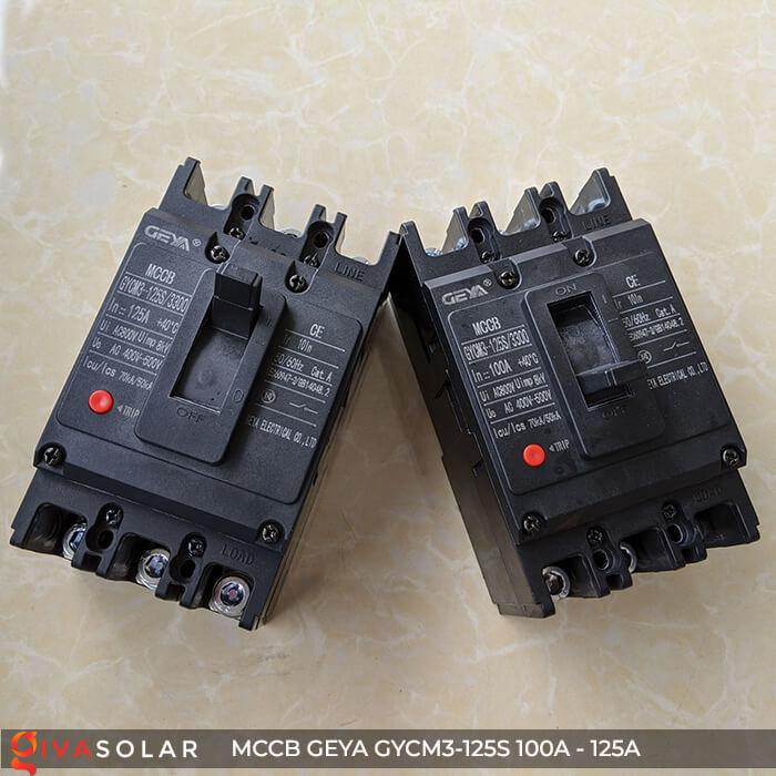 MCCB của GEYA GYCM3-125SP/3300 3P 100A và 125A 1