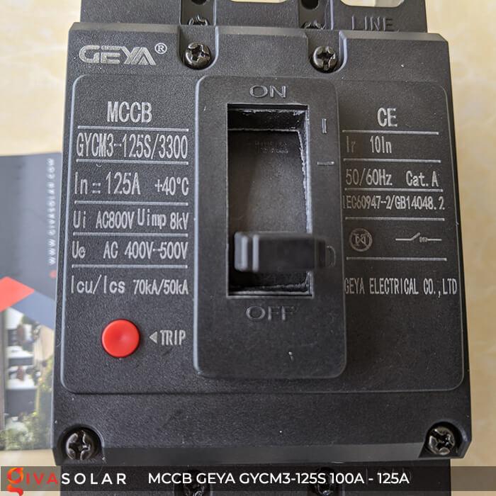 MCCB của GEYA GYCM3-125SP/3300 3P 100A và 125A 11