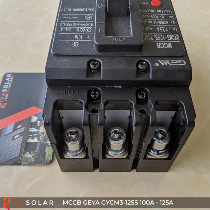 MCCB của GEYA GYCM3-125SP/3300 3P 100A và 125A 12