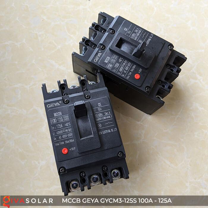 MCCB của GEYA GYCM3-125SP/3300 3P 100A và 125A 2