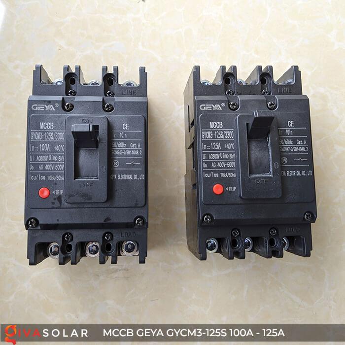 MCCB của GEYA GYCM3-125SP/3300 3P 100A và 125A 3