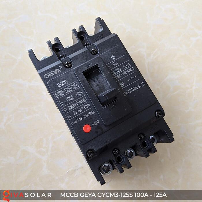MCCB của GEYA GYCM3-125SP/3300 3P 100A và 125A 4