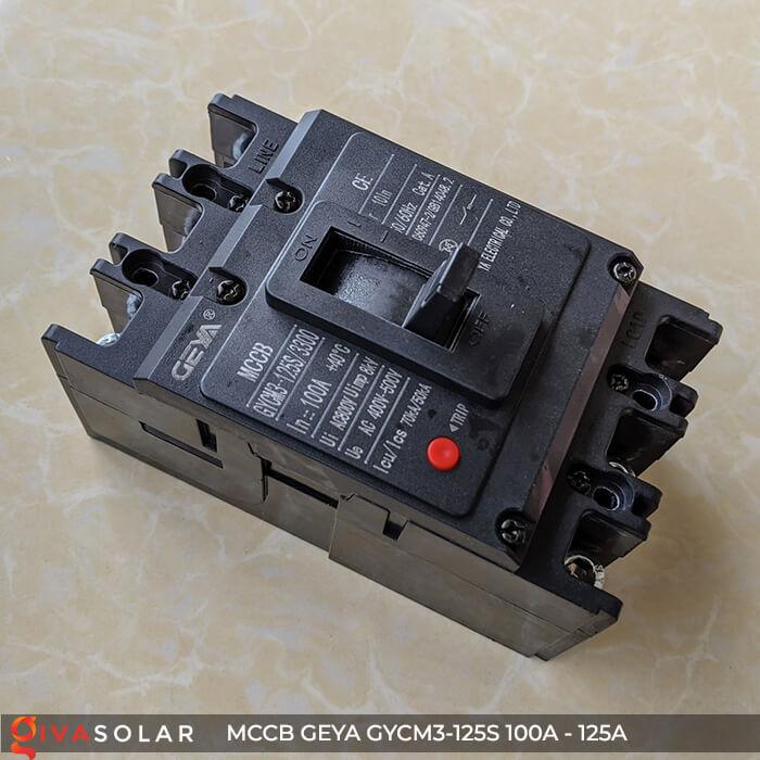 MCCB của GEYA GYCM3-125SP/3300 3P 100A và 125A 5