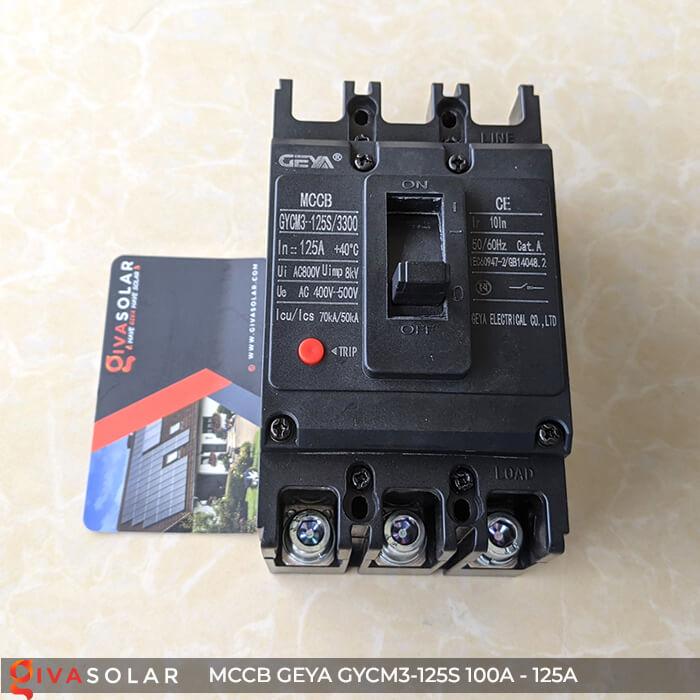 MCCB của GEYA GYCM3-125SP/3300 3P 100A và 125A 7