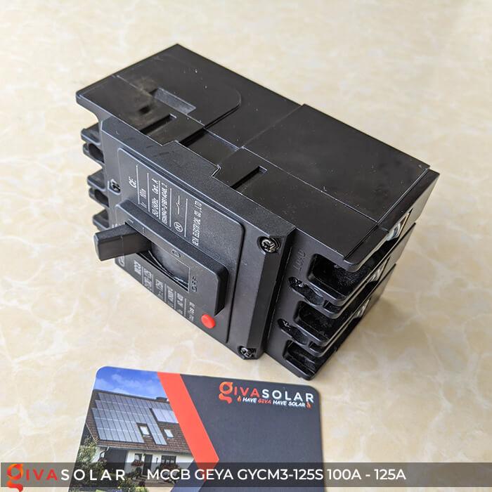 MCCB của GEYA GYCM3-125SP/3300 3P 100A và 125A 8