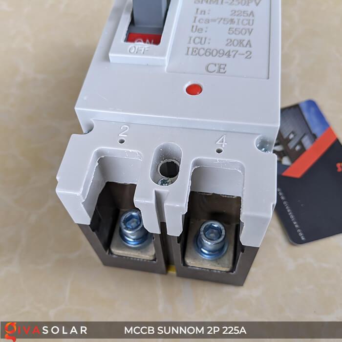 MCCB Sunnom 2P 225A 550VDC 11