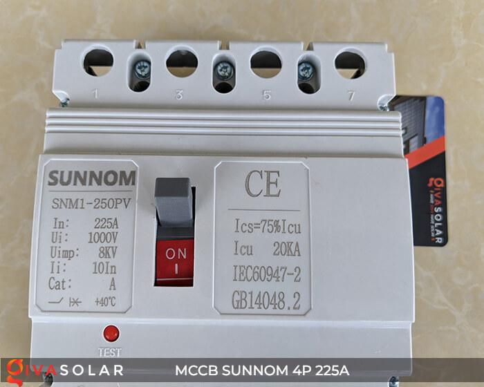 MCCB Sunnom 4P 225A 1000VDC 13