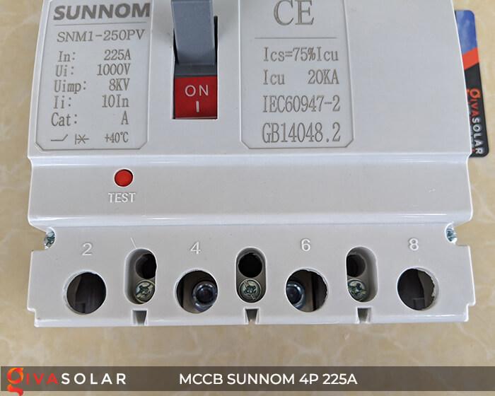 MCCB Sunnom 4P 225A 1000VDC 14