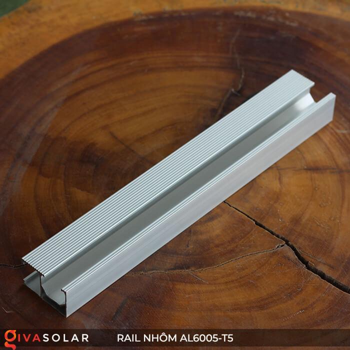 Thanh rail nhôm năng lượng mặt trời 4m2 AL6005-T5 1