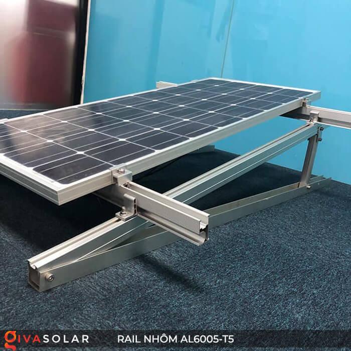 Thanh rail nhôm năng lượng mặt trời 4m2 AL6005-T5 10