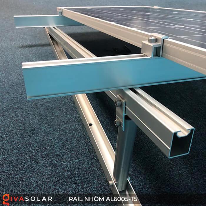 Thanh rail nhôm năng lượng mặt trời 4m2 AL6005-T5 11