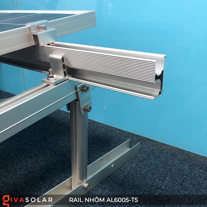 Thanh rail nhôm năng lượng mặt trời 4m2 AL6005-T5 12