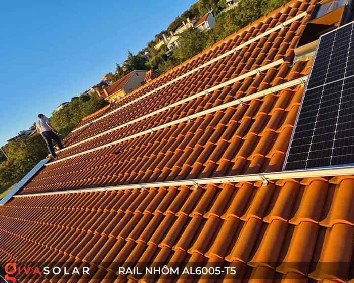 Thanh rail nhôm năng lượng mặt trời 4m2 AL6005-T5 13