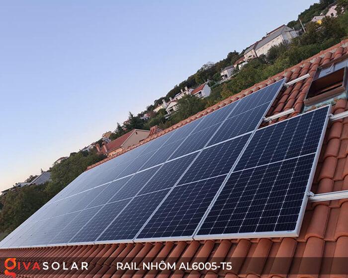 Thanh rail nhôm năng lượng mặt trời 4m2 AL6005-T5 14