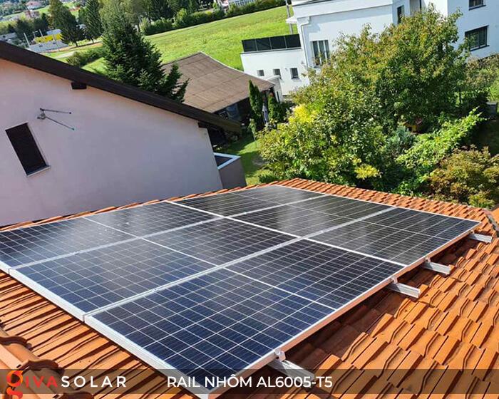 Thanh rail nhôm năng lượng mặt trời 4m2 AL6005-T5 15