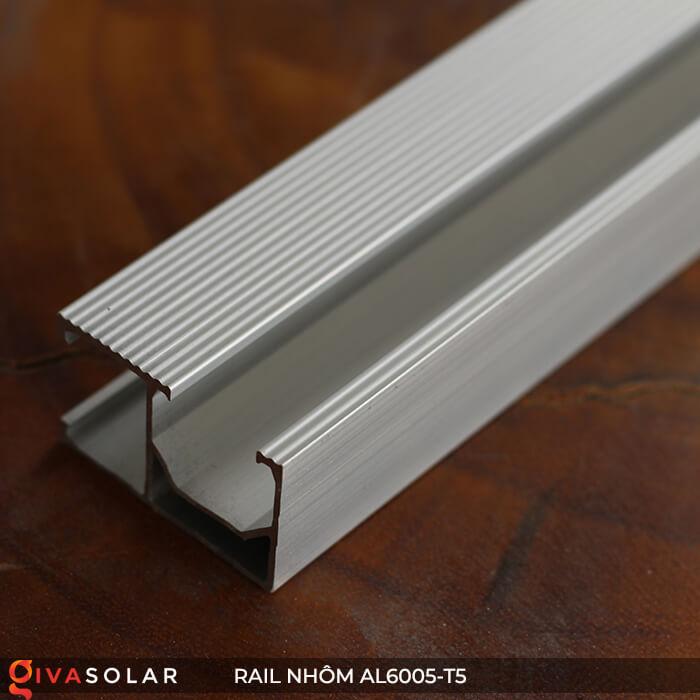 Thanh rail nhôm năng lượng mặt trời 4m2 AL6005-T5 2