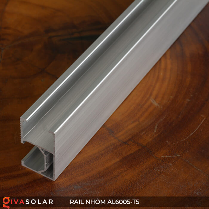 Thanh rail nhôm năng lượng mặt trời 4m2 AL6005-T5 3