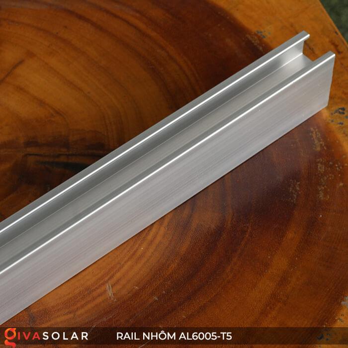 Thanh rail nhôm năng lượng mặt trời 4m2 AL6005-T5 4
