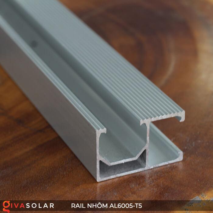 Thanh rail nhôm năng lượng mặt trời 4m2 AL6005-T5 6