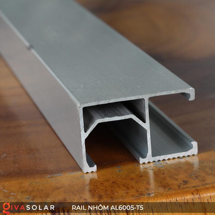 Thanh rail nhôm năng lượng mặt trời 4m2 AL6005-T5 7
