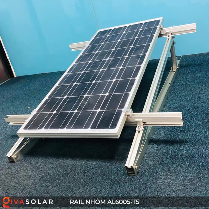 Thanh rail nhôm năng lượng mặt trời 4m2 AL6005-T5 9
