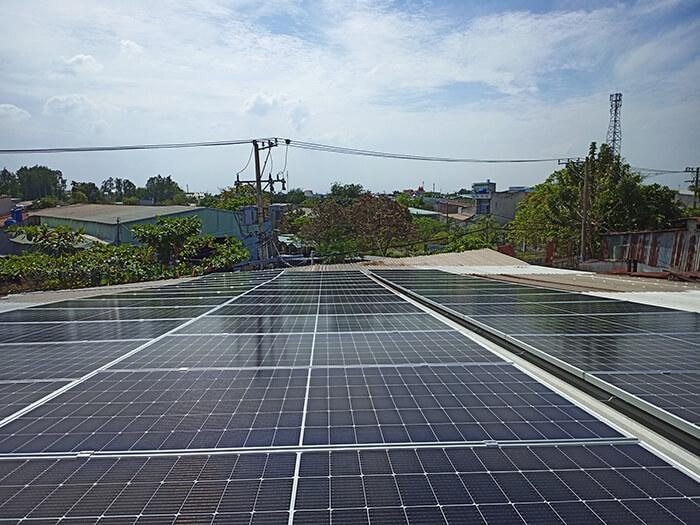dự án điện mặt trời hòa lưới 21KW cho anh Kiệt ở Bình Chánh 2