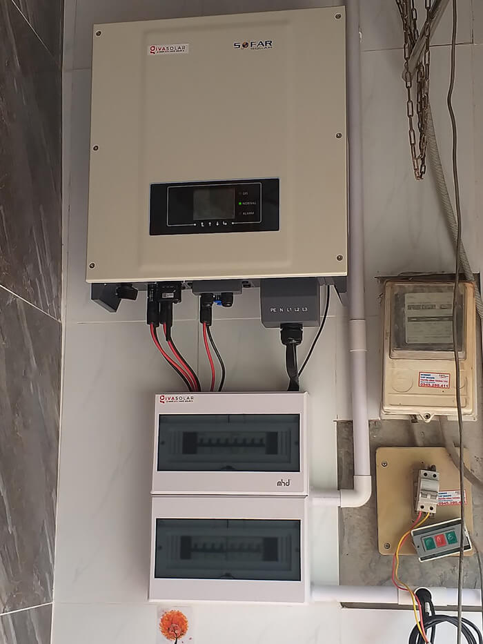dự án điện mặt trời hòa lưới 21KW cho anh Kiệt ở Bình Chánh 8