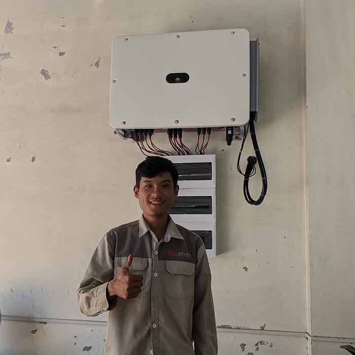Dự án điện mặt trời hòa lưới 269KW cho Công ty cao su Chư Sê Gia Lai 13