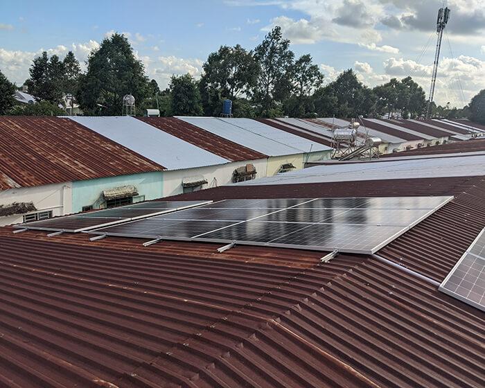 Dự án điện mặt trời hòa lưới 8KW ở Khu dân cư Phú An Cần Thơ 2