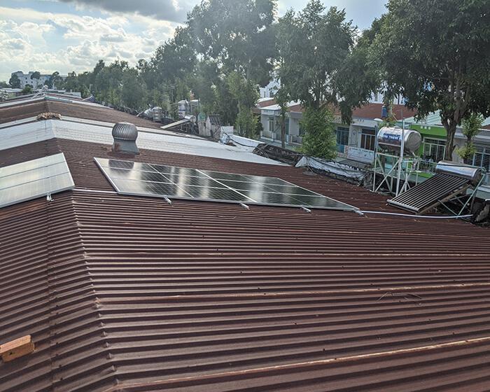 Dự án điện mặt trời hòa lưới 8KW ở Khu dân cư Phú An Cần Thơ 3