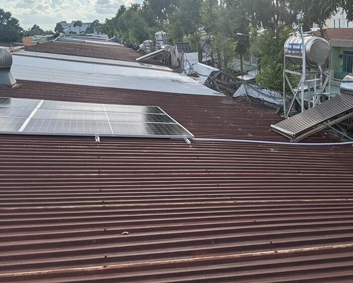 Dự án điện mặt trời hòa lưới 8KW ở Khu dân cư Phú An Cần Thơ 4