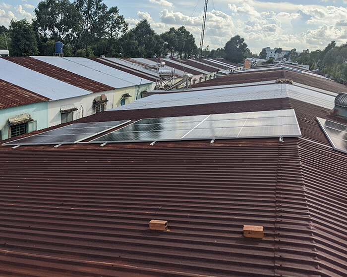 Dự án điện mặt trời hòa lưới 8KW ở Khu dân cư Phú An Cần Thơ 5