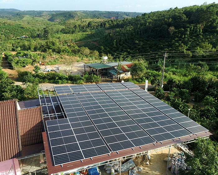điện mặt trời hòa lưới 45KW cho anh Dũng ở Đắk Nông 2