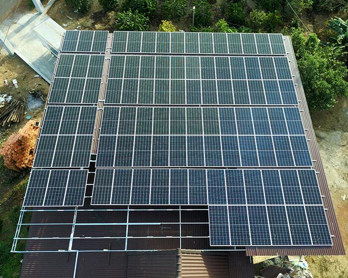 điện mặt trời hòa lưới 45KW cho anh Dũng ở Đắk Nông 3