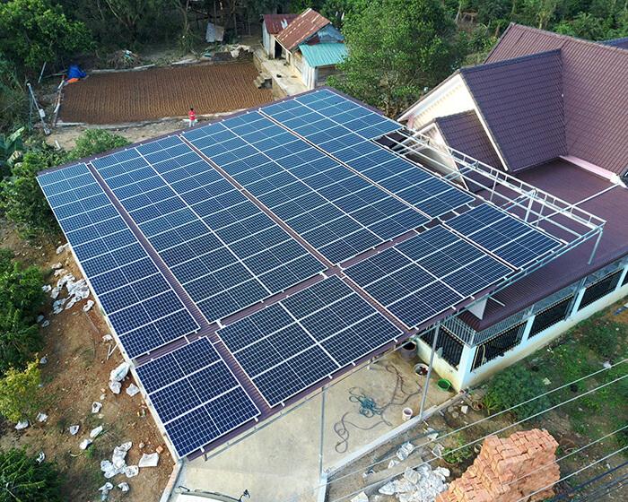 điện mặt trời hòa lưới 45KW cho anh Dũng ở Đắk Nông 4
