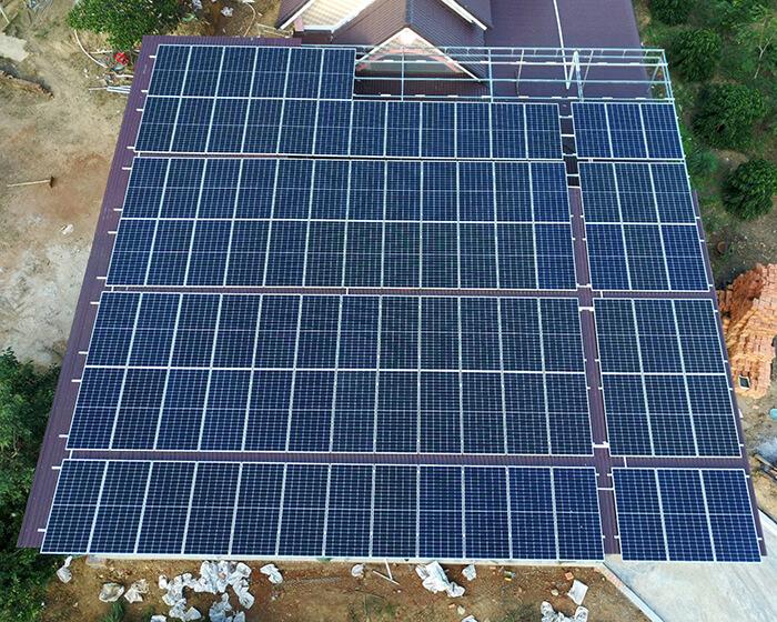 điện mặt trời hòa lưới 45KW cho anh Dũng ở Đắk Nông 5