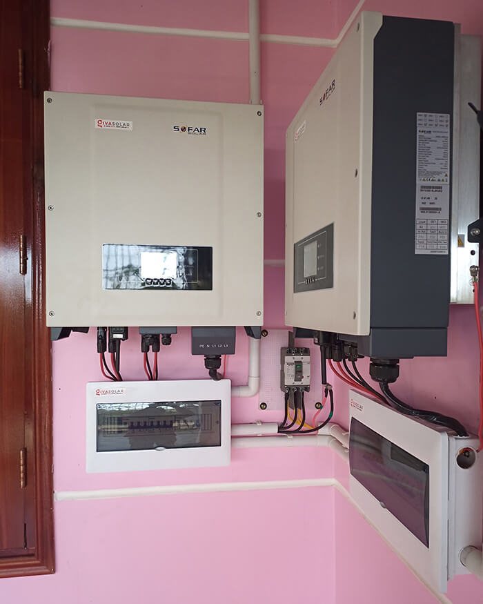 điện mặt trời hòa lưới 45KW cho anh Dũng ở Đắk Nông 7