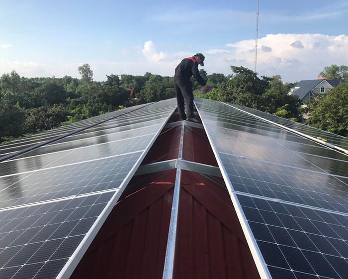 dự án hòa lưới điện mặt trời 100KW cho anh Phương ở Bà Rịa Vũng Tàu 4