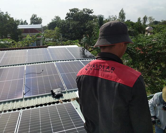 dự án hòa lưới điện mặt trời 100KW cho anh Phương ở Bà Rịa Vũng Tàu 5