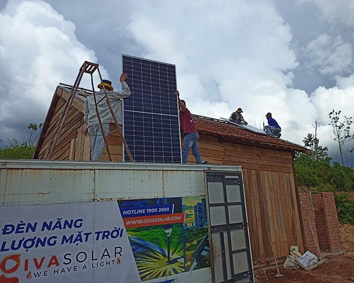 Hệ thống điện mặt trời độc lập 2.6KW ở Đắk Nông 3