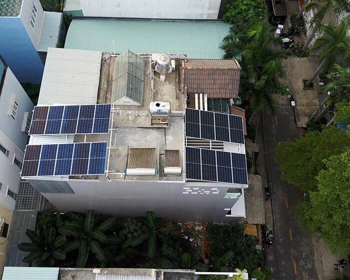 điện mặt trời hòa lưới áp mái 8KW cho cô Liên ở Quận 8 2