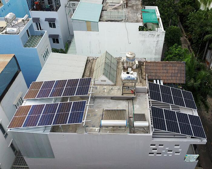 điện mặt trời hòa lưới áp mái 8KW cho cô Liên ở Quận 8 3