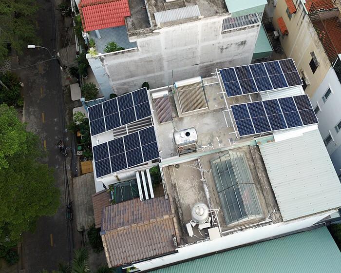 điện mặt trời hòa lưới áp mái 8KW cho cô Liên ở Quận 8 4