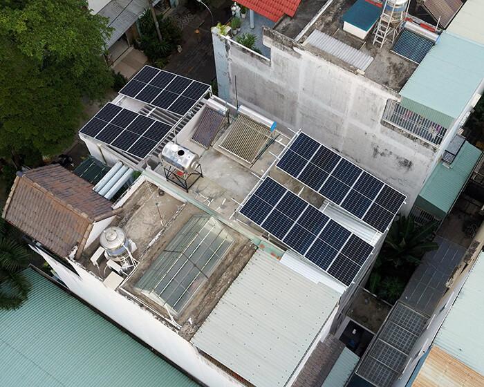 điện mặt trời hòa lưới áp mái 8KW cho cô Liên ở Quận 8 5